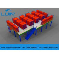 Plywood Board Industrial Mezzanine Floors Racking System with Staircase