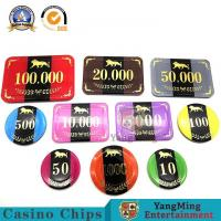 China Factory Supply 3.3mm Thickness Professional Poker UV Light Chips With Aluminum Security Chips Case for sale
