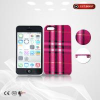 China Iphone 5 PU Fabric Leather Cell Phone Cases Colorful With Linen Finish on sale