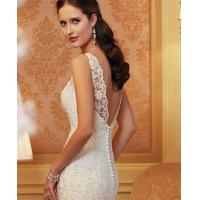 Buy cheap White Sexy Off Sholder Ladies Wedding Dresses , Muslim Wear Long Sleeve Ball from wholesalers