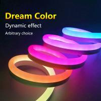 Wholesale Dream Color LED Neon Flex Strip , Programmable LED Neon Lights SPI Signal Control from china suppliers