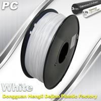 Wholesale 1.75 / 3.0 mm  PC Filament  White for RepRap , Cubify 3D Printer Filament from china suppliers