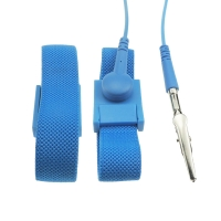 Wholesale PA6 Plastic Buckle 4MM Snap Conductive Fiber ESD Wrist Strap from china suppliers
