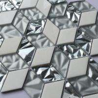 Non Slip Crystal Glass Mosaic Tiles Washroom Hexagon Shaped Floor Tile 300X300 for sale