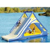 Wholesale giant kids N adults inflatable floating slide for outdoor water game use in the lake from china suppliers