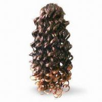 Wholesale Wig, Made of Human Hair Kanekalon or Chinese Fiber, Various Lengths are Available from china suppliers