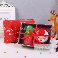 Wholesale Luxury Paper Box Santa Claus Xmas Tree Merry Christmas Bath Face Hand Washrag Towel Gift Set from china suppliers