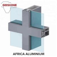 Quality windows and doors wall aluminium extrusion profiles accessories for West Africa for sale