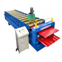 Buy cheap Glazed Panel Color Steel Double Layer Roll Forming Machine CE Sheet Metal Roll Former from wholesalers