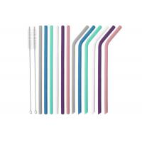 Wholesale Silicone Straws for  Tumblers Reusable Silicone Drinking Straws BPA Free from china suppliers