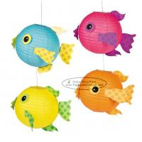 Wholesale Spotty Fish Lantern For Children Toys Hanging Animal Paper Lantern from china suppliers