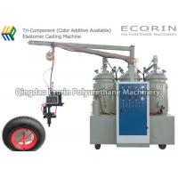Best 15KW High Efficient Intelligent Three Components Automatic Polyurethane Foam Machine For solid  PU wheel and tire wholesale