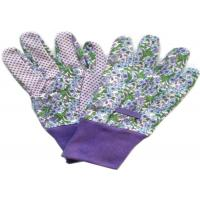 Wholesale Purple Printed Working Hands Gloves Polar PVC Dots For Women Gardening from china suppliers
