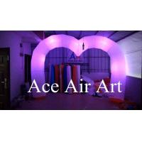 Wholesale wonderful changing colorful led heart shape inflatable arch decoration for wedding from china suppliers