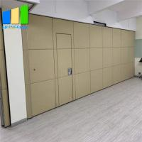 Wholesale Church Absorbing Movable Sliding Folding Wall Sound Proof Partition Panel With Pass Door from china suppliers