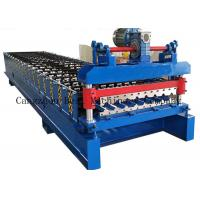 China Hydraulic Cutting Roofing Sheet Roll Forming Machine 380v 8-12m/Min Productivity for sale