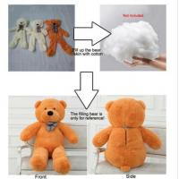 China Hung Plush Pink Unstuffed Teddy Bear Skins With Zipper , Semi - Finished Product for sale