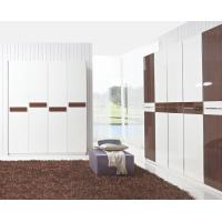 Wholesale Hotel Interior Design by project Furniture in-wall Wardrobe cabinet high glossy melamine from china suppliers
