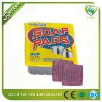 Wholesale soap pads steel wool in red color from china suppliers