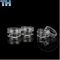 Wholesale Empty Clear Plastic Jars , Plastic Cosmetic Containers With Lids 3 / 5 / 10g from china suppliers