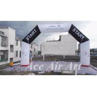 Wholesale customize 20 feet angle start/finish inflatable arch with free air blower for races and events from china suppliers