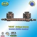 Best Long Metal Coffin Barref H016 Coffin Handles Antique Bronze 30*7.5 Cm wholesale