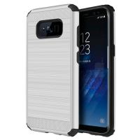 Wholesale Brushed Metal Textured Anti - Slip Grip Rugged Cell Phone Case For Samsung Galaxy S8 from china suppliers