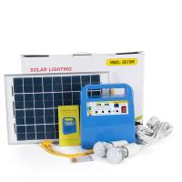 China 12V 10W Home Solar Power energy System with MP3 player FM Radio speaker USB charging LED bulb for sale