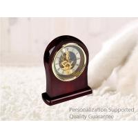 Wholesale Luxury Rich Cherry High  Gloss Hardwood Home Decoration Desktop Table Clock, Small Order, Quality Guarantee from china suppliers