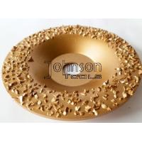 Buy cheap Gold Buffing Tungsten Carbide Grinding Disc For Roughing Rubber And Fabric from wholesalers