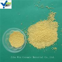 Wholesale Textile/coating/paper making industry use golden cerium zirconia grinding media for basket mill from china suppliers