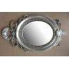 bowknot hotel framed bathroom mirror,wood framed bathroom mirror for sale