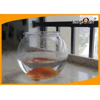 Wholesale Beautiful 4L Round PET Plastic Fish Bowl , Aquarium Fish Tank For Home Decorative from china suppliers