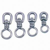 Wholesale Fishing Swivel, Available in Brass, Black and Nickle Plating, Various Sizes are Available from china suppliers