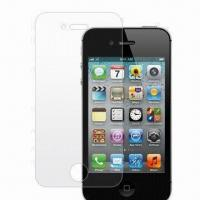 Wholesale Clear Screen Protector, Suitable for Apple's iPhone 4S, Made of Transparent PET Material from china suppliers