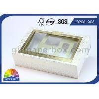 China Drawer Window Paper Gift Box with Blister Tray , Cosmetic Packaging Boxes Environmentally Friendly for sale