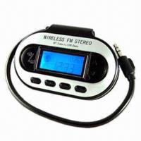 Wholesale Car FM Transmitter for Mobile Phone, with 3.5mm Connector, LCD Display, Supports 200 FM Stations from china suppliers