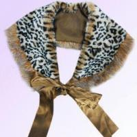 Wholesale Leopard Pattern Fur Scarf Made of Polyester from china suppliers