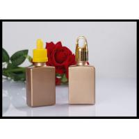 Wholesale Gold Flat Square Glass Bottle E liquid Comestic Use Rectangle Dropper Bottle from china suppliers