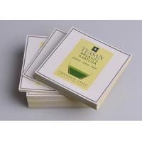 China Full color printed adhesive artpaper sticky labels for green tea packaging custom for sale