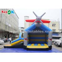 Wholesale 0.4mm PVC Tarpaulin Inflatable Jump And Slide Bouncer With Airplane For Kids from china suppliers