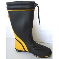 Wholesale Size 41 Yellow Black Men Rubber Industrial Rubber Boots Wide Calf from china suppliers