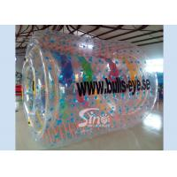Wholesale Bulls eye PVC and TPU inflatable water roller with removable tubes for pool parties from china suppliers