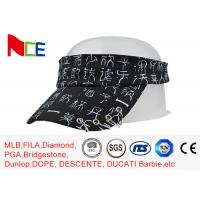 Wholesale Rubberized Silk Printed Sun Visors , Mens Beach Visor Running Street Style from china suppliers