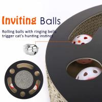 China Round Cat Scratcher Lounge Bed Premium Recycled Corrugated Cardboard Material on sale