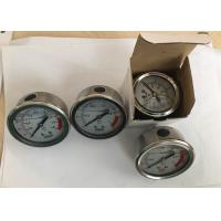 Wholesale Stainless Steel Oil Filled Pressure Gauge for Water Treatment Back Connection from china suppliers
