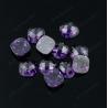 Wholesale cushion shape dark amethyst cubic zirconia rough gemstones for sale