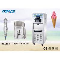 China Soft Serve Commercial Ice Cream Making Machine Three Flavor With Movable Wheel for sale