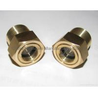 China Brass Npt Thread 1/4 1/2 3/4 1 2 Oil Sight Glass with tempered glass OEM and ODM service on sale