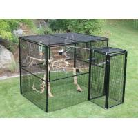 Wholesale Welded Wire Lifestyle Deluxe Metal Bird Aviary Powder Coated Black Color from china suppliers